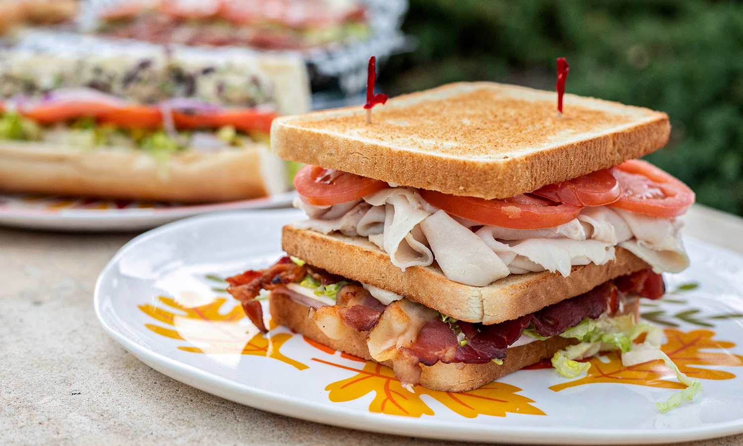 Bacon Lettuce Tomato Turkey Sandwhich